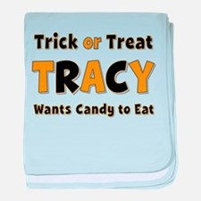 Tracy Trick or Treat baby blanket