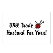 Will Trade Husband For Yarn Postcards (Package of