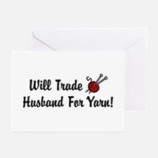 Will Trade Husband For Yarn Greeting Cards (Packag