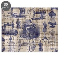 Vintage Sewing Toile Puzzle