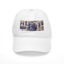 Vintage Sewing Toile Baseball Cap