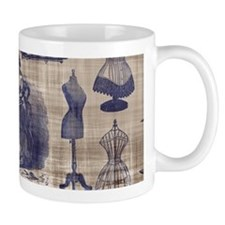 Vintage Sewing Toile Mug