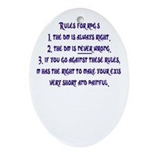 RPG Rules Oval Ornament
