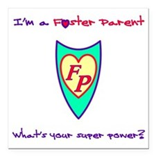 """What's your super power? Square Car Magnet 3"""" x 3"""""""