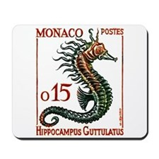 Vintage 1960 Monaco Spiny Seahorse Postage Stamp M