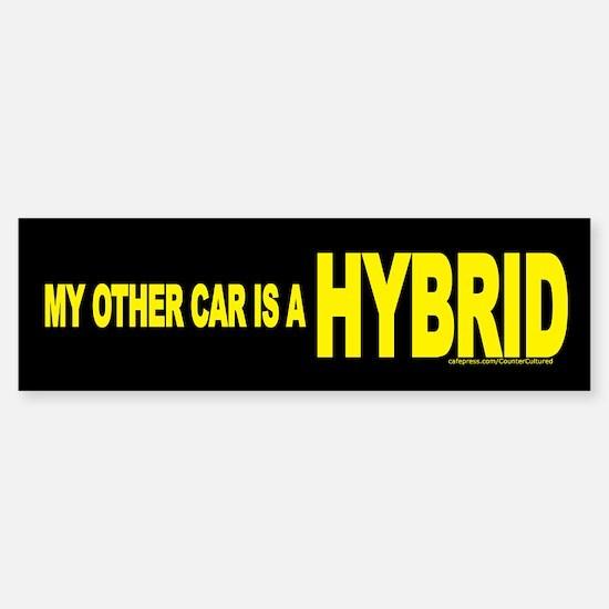 """My other car is a HYBRID"" Bumper Bumper Bumper Sticker"
