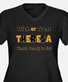 Theresa Trick or Treat Plus Size T-Shirt