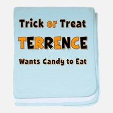 Terrence Trick or Treat baby blanket
