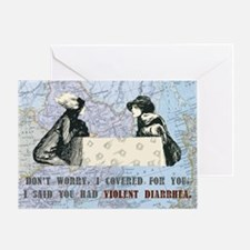Violent Diarrhea Greeting Card