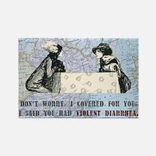 Violent Diarrhea Rectangle Magnet