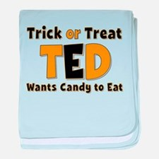 Ted Trick or Treat baby blanket