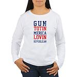 Gun totin Merica Lovin Long Sleeve T-Shirt