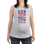 Gun totin Merica Lovin Maternity Tank Top