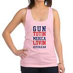Gun totin Merica Lovin Racerback Tank Top