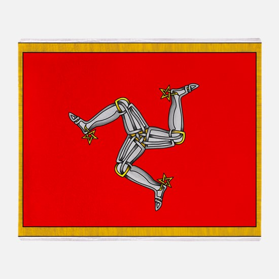 Isle of Man Throw Blanket