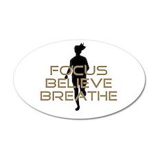 Tan Focus Believe Breathe Wall Sticker