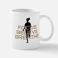 Tan Focus Believe Breathe Mug
