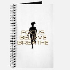 Tan Focus Believe Breathe Journal