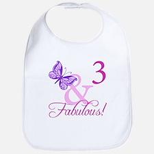 Fabulous 3rd Birthday For Girls Bib