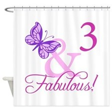 Fabulous 3rd Birthday For Girls Shower Curtain