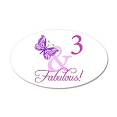 Fabulous 3rd Birthday For Girls Wall Decal