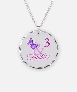 Fabulous 3rd Birthday For Girls Necklace