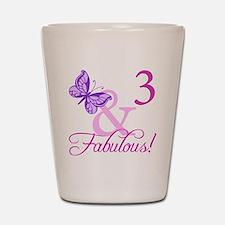Fabulous 3rd Birthday For Girls Shot Glass