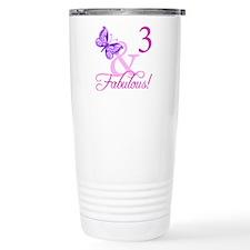 Fabulous 3rd Birthday For Girls Travel Mug