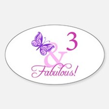 Fabulous 3rd Birthday For Girls Decal