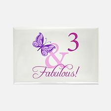 Fabulous 3rd Birthday For Girls Rectangle Magnet