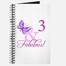 Fabulous 3rd Birthday For Girls Journal