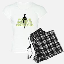 Green Focus Believe Breathe Pajamas
