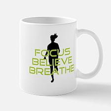 Green Focus Believe Breathe Mug