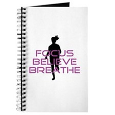 Purple Focus Believe Breathe Journal