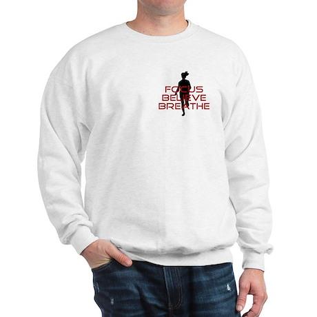Red Focus Believe Breathe Sweatshirt