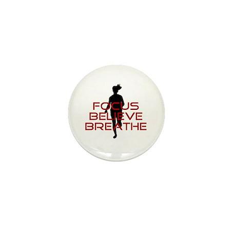Red Focus Believe Breathe Mini Button (10 pack)