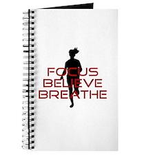 Red Focus Believe Breathe Journal