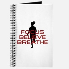 Red Focus Believe Breathe Journal