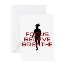 Red Focus Believe Breathe Greeting Card