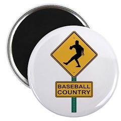 Baseball Country Road Sign 2.25