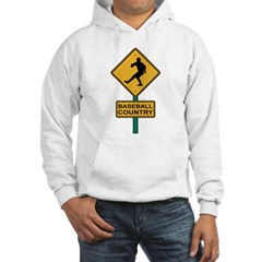 Baseball Country Road Sign Hoodie