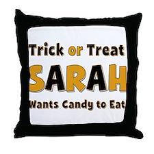 Sarah Trick or Treat Throw Pillow