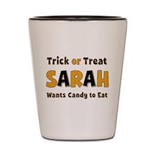 Sarah Trick or Treat Shot Glass