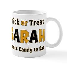 Sarah Trick or Treat Mug