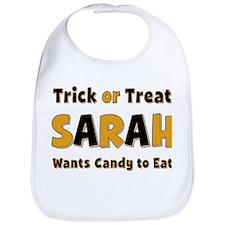 Sarah Trick or Treat Bib