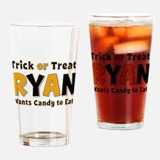 Ryan Trick or Treat Drinking Glass