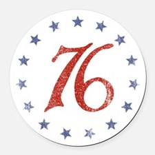 Spirit of 1776 Round Car Magnet