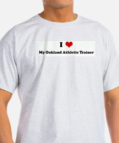 I Love My Oakland Athletic Tr Ash Grey T-Shirt