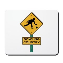 Bowling Country Road Sign Mousepad