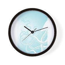 Octopus Tentacles Light Blue Wall Clock